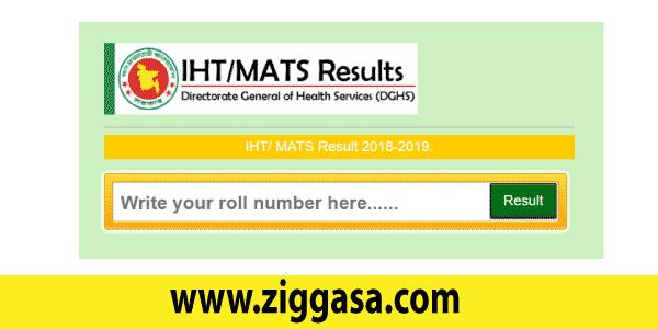 IHT MATS Admission Test Result 2018