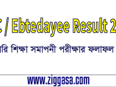 PSC and Ebtedayee Result 2017