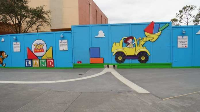 Toy Story Land Construction Update February fence