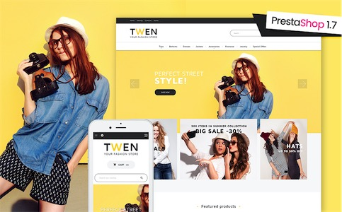 Twen Fashion PrestaShop 1.7 Theme #61230