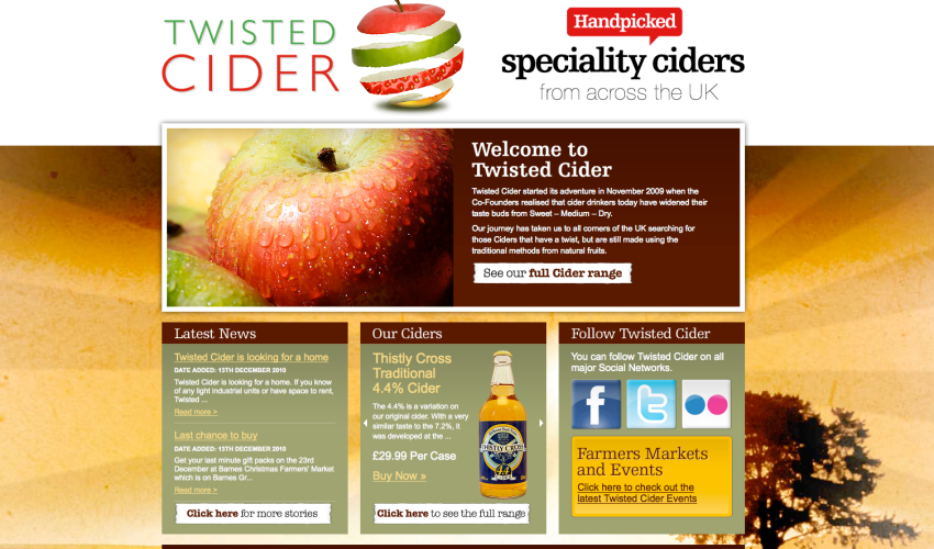 Twisted Cider website goes live