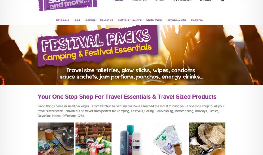 Website design Worcestershire - Sachets and More