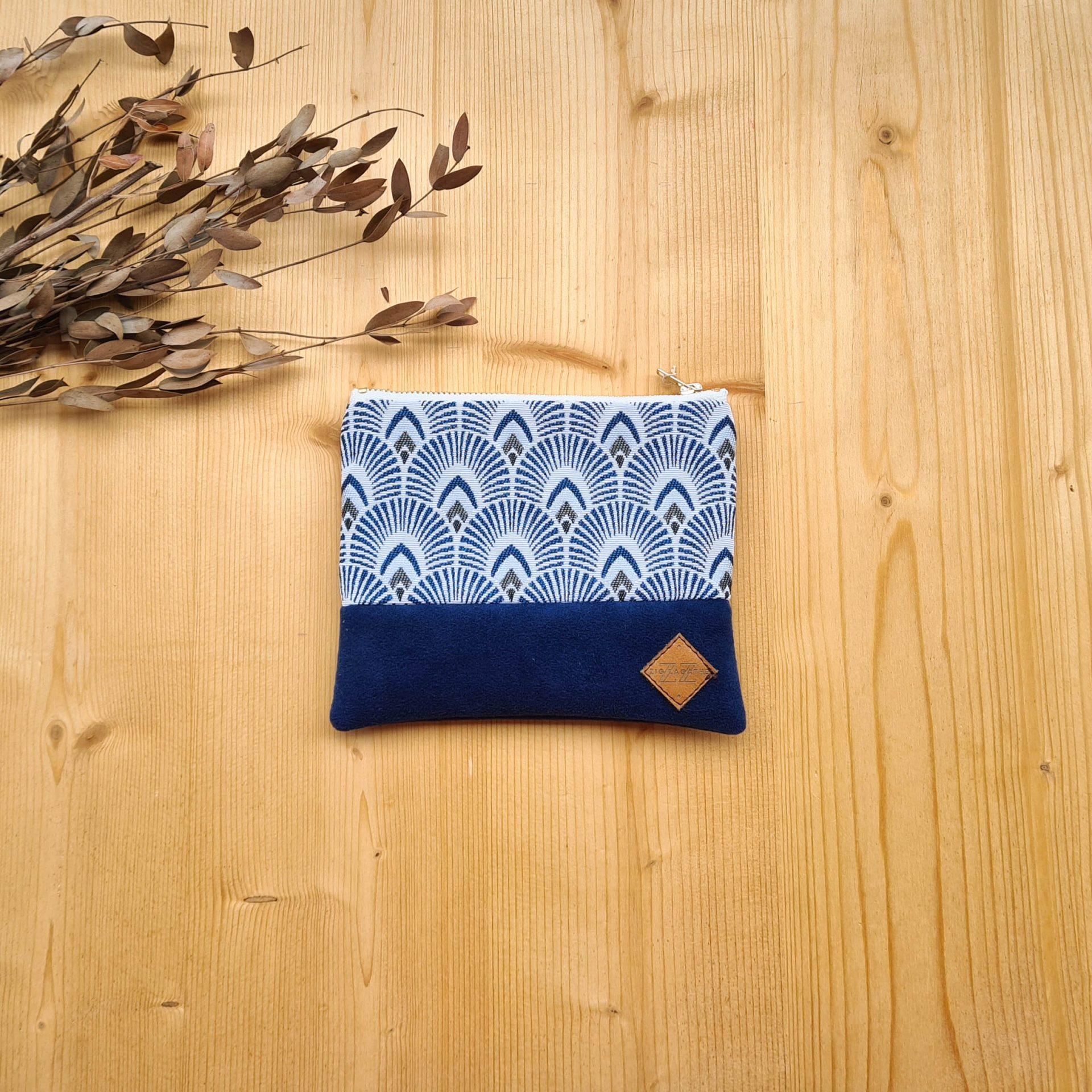 Petite pochette Iwakura bleu