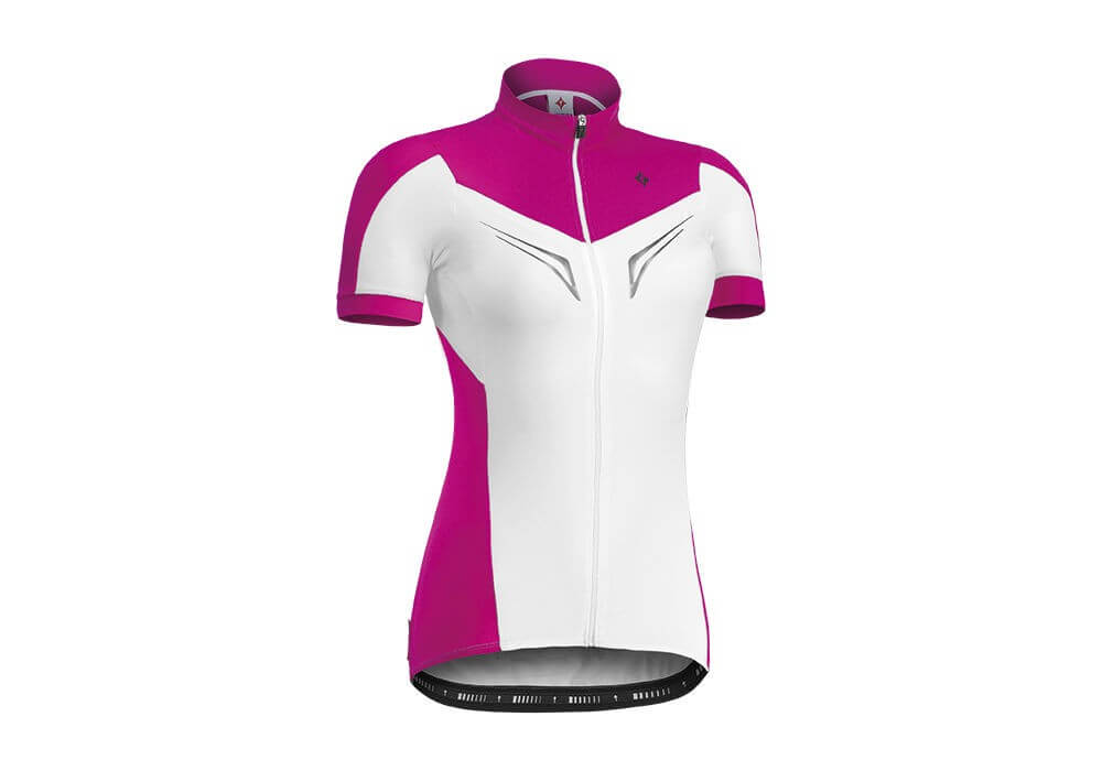 Wielerkleding dames specialized roze wit