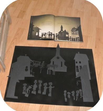 La deuxième étape : les silhouettes sont découpées, prêtes à être utilisées