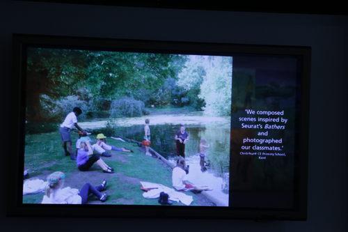 Les baigneurs d'Asnières, de Seurat