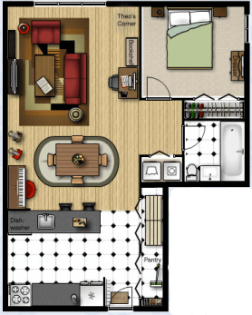 First Apartment Floorplan