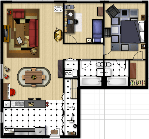 Second Apartment Floorplan