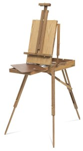 french easel, open
