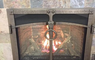 Fireplace X 864 HO gas fireplace with Iron Works Face