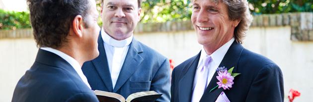 Same-sex wedding officiate