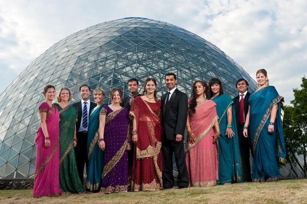 Indian Wedding Bridal Party Attire