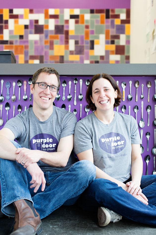 Founders of Purple Door Ice Cream