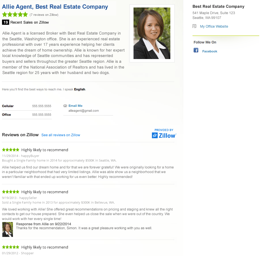 Examples Good Reviews Real Estate Agents