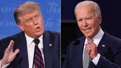 Photo of Biden and Trump clashed in chaotic debate