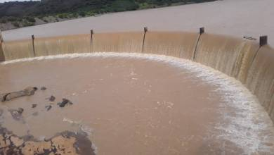 Photo of Tugwi-Mukosi Dam goes 100% full and spills for the first time ever