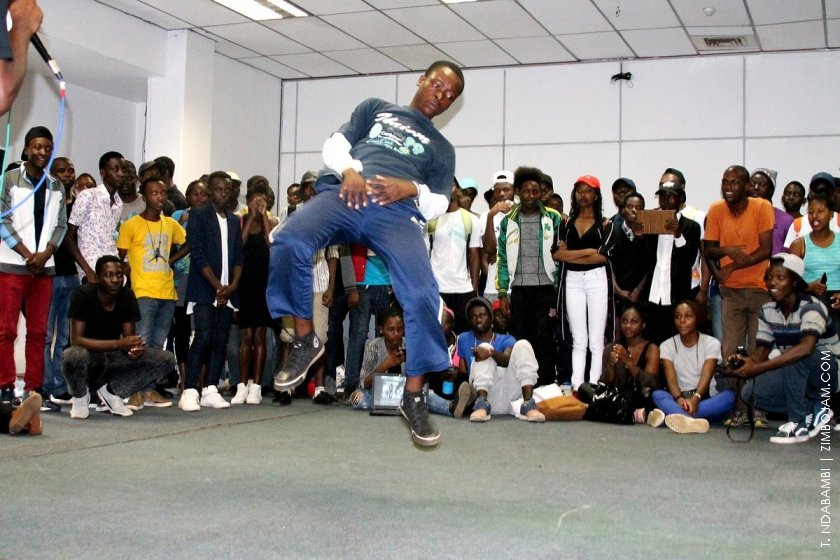 Dancer in the cypher arena PIC: T. NDABAMBI | ZIMBOJAM.COM