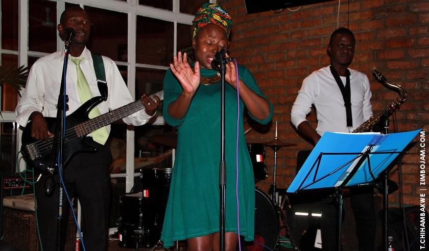 Prudence belting it out at yet another great jazzics evening. PIC: T. CHIHAMBAKWE. | ZIMBOJAM.COM