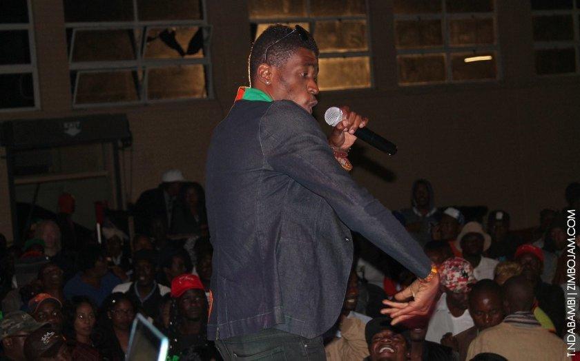 Sonny Makhalima at the Turbulence show PIC: T. NDABAMBI | ZIMBOJAM.COM