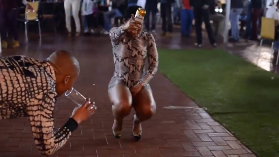 Zodwa dancing at night party PIC COURTESY OF ONLINE SCOOPS