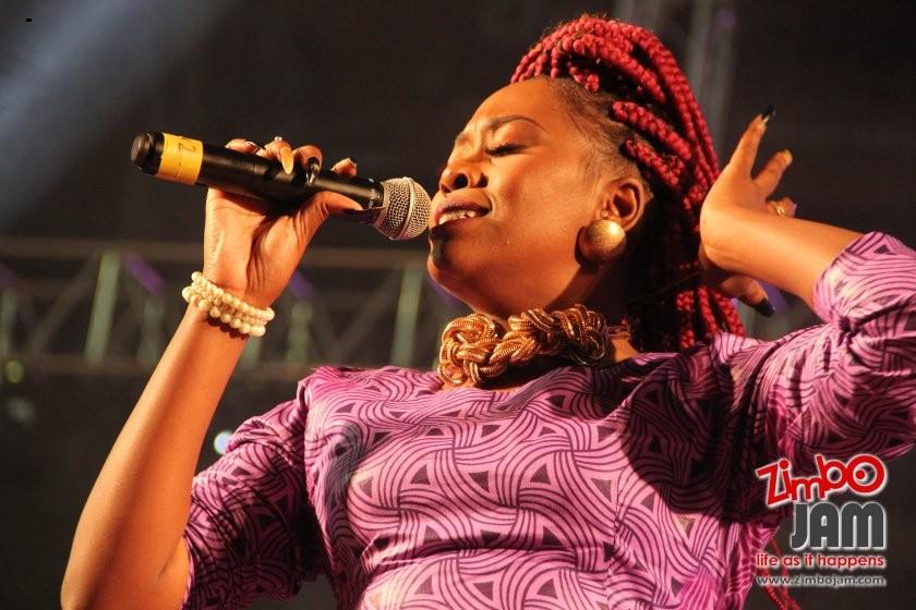 Marbel Madondo singing at the Zimpraise Live DVD recording. PIC: T. CHIHAMBAKWE | ZIMBOJAM.COM