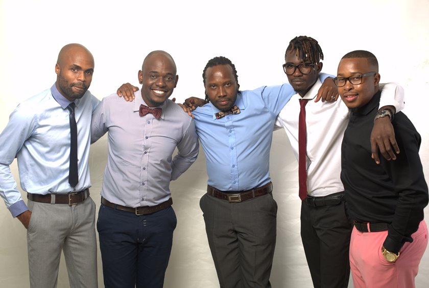 The acts set to perform at the first edition of the 8 O'clock Show, Squash, Prayersoul, Taz, Adrian and Tytan. PIC: COURTESY OF TAZ
