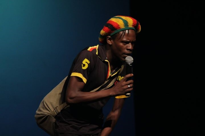 Skhanyiso Mlambo aka Ckhanyiso Datguy doing his thing on stage PIC: COURTESY OF SIKHANYISO