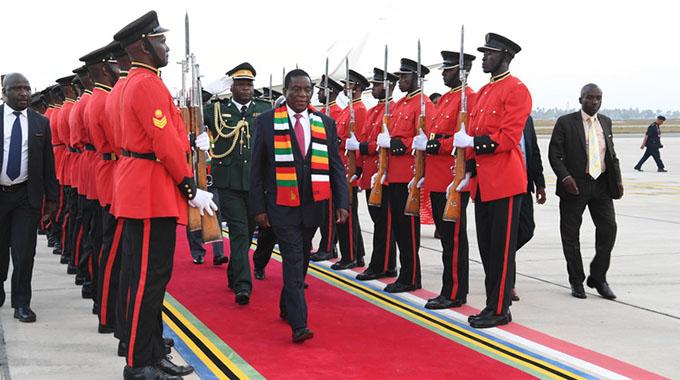 Mnangagwa arrives in Tanzania for Sadc Summit