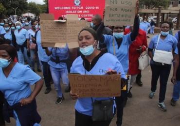 Striking nurses dig in even after being struck off July payroll