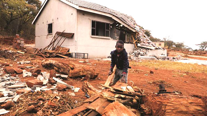 Army demolishing illegal houses near Heroes Acre