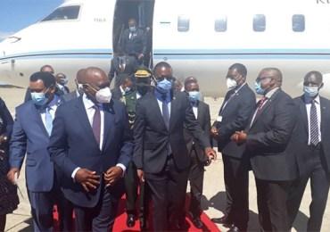 Botswana's President Masisi arrives