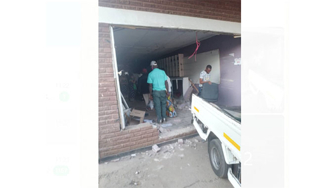 Four injured as learner truck rams into barber shop