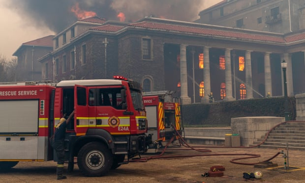 Cape Town fire burns university library, students evacuated