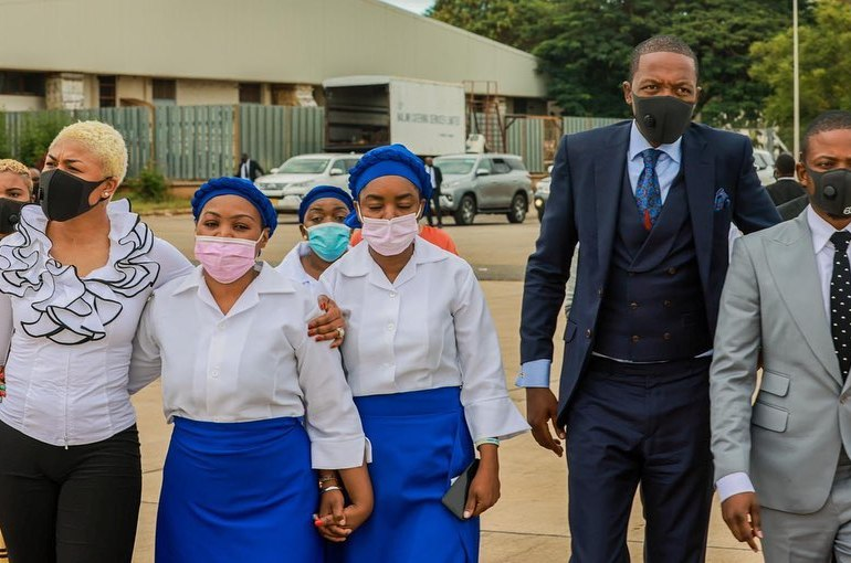 Prophet Uebert Angel has arrived in Lilongwe, Malawi to console his spiritual son Prophet Shepherd Bushiri following the death of his 9-year-old daughter Israella on Monday.