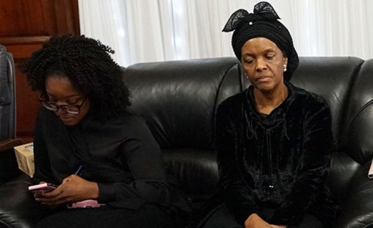 Grace Mugabe fined in absentia by traditional court over ex-president's burial