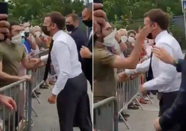 French man gets 4-month prison sentence for slapping president Macron