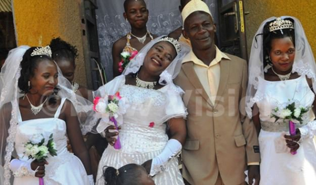 MAN WEDS THREE WIVES