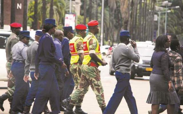 'ZIMBABWE NOW A MILITARY STATE' SAYS MDC