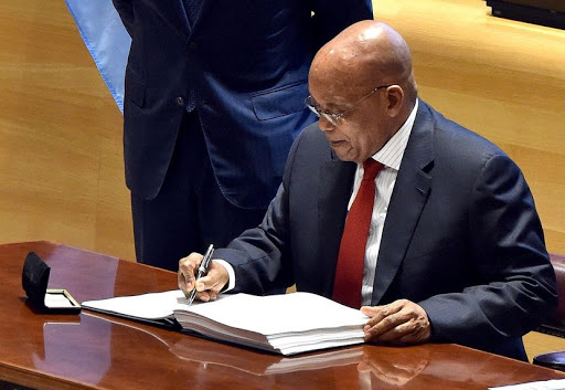 PRESIDENT JACOB ZUMA RESIGNS