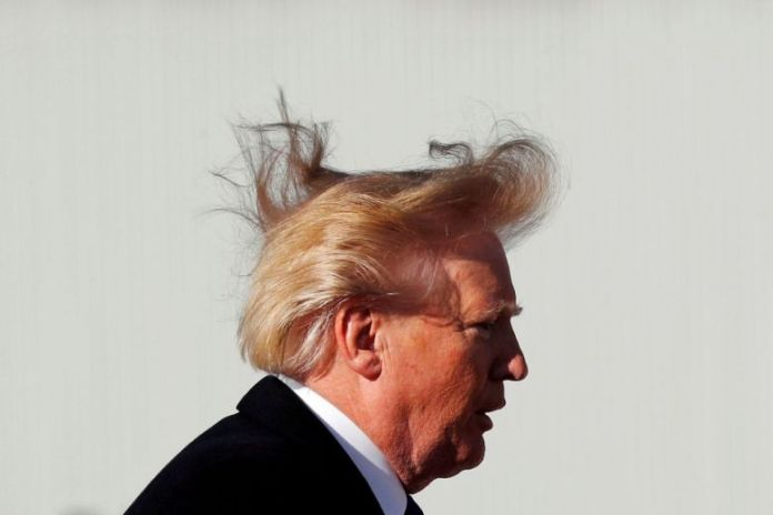 DONALD TRUMP CRACKS JOKE ABOUT BALD SPOT