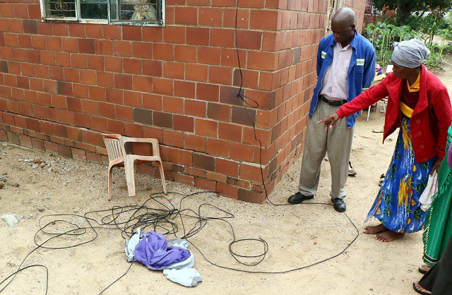 DRUNK MAN COMMITS SUICIDE WITH TELEPHONE CABLE