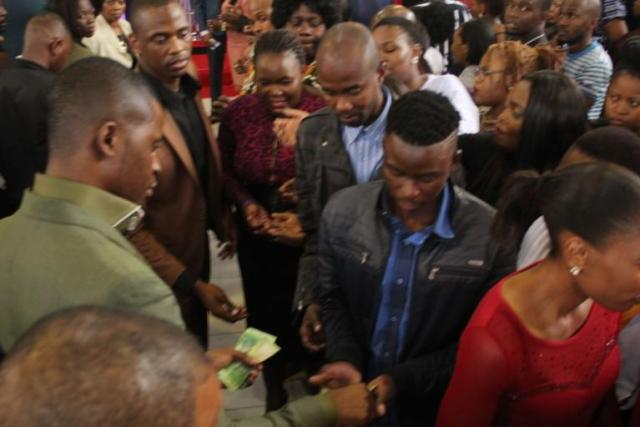 Stampede As Prophet Dishes Out Free Money To Congregants