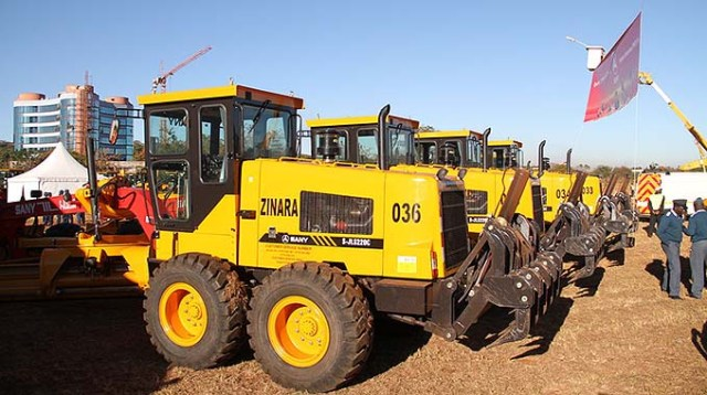 Some of the graders that were used in the emergency road rehabilitation programme