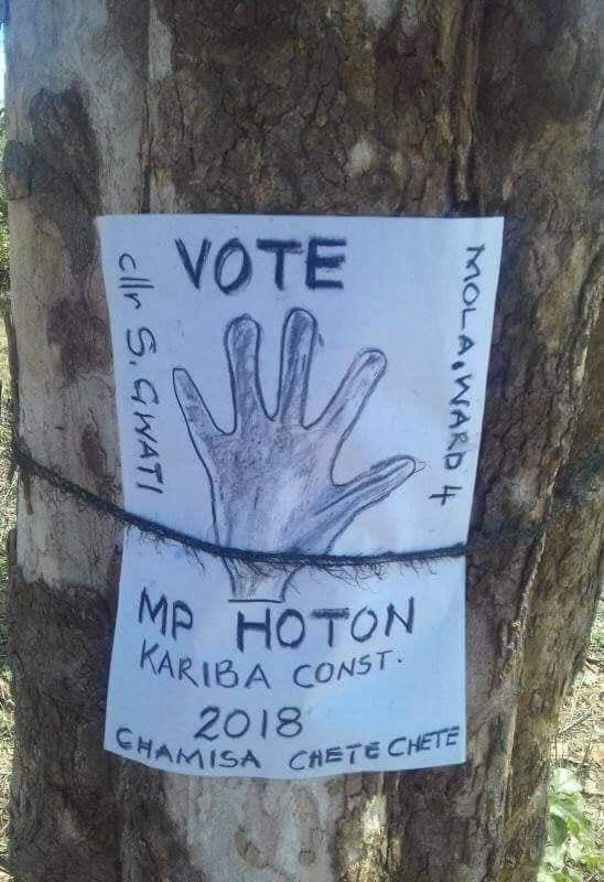 MDC Candidate Resorts To Hand Drawn Poster Amid Budgetary Constraints