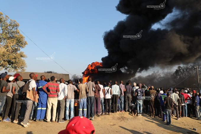 Fuel Tanker Explodes In Mutare