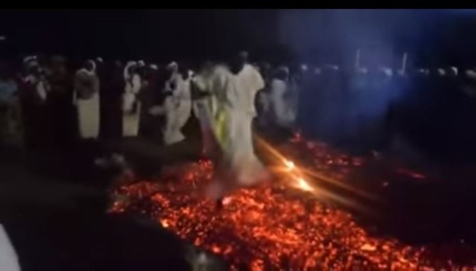 Mapostori Walking On Red Hot Coals