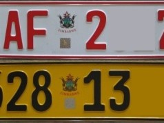 NUMBER PLATES RUN OUT IN ZIM