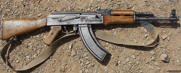 MAN STEALS AK 47 FROM POLICE STATION, FLEES