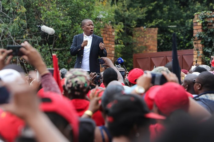 Julius Malema's EFF speaks on anti-Chiwenga protests