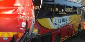 Accident: Inter Africa Bus Hit By A Green Fuel Truck In Chipinge